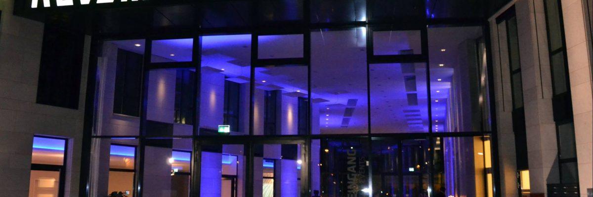 Tagung Würzburg - Eingangsbereich am Abend